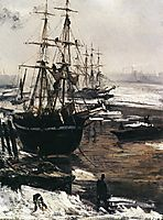 The Thames in Ice, 1860, whistler