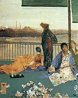Variations in Flesh Colour and Green—The Balcony, 1865, whistler