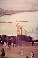 Variations in Pink and Grey: Chelsea , 1871, whistler