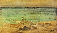 Violet and Blue: The Little Bathers, 1888, whistler