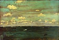 Violet and Silver - The Deep Sea, 1893, whistler