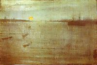 Whistler Nocturne Blue and Gold Southampton Water, 1872, whistler