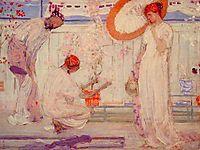 The White Symphony: Three Girls, c.1868, whistler