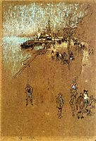 The Zattere; Harmony in Blue and Brown , 1880, whistler