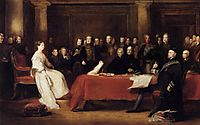 The First Council of Queen Victoria, 1838, wilkie
