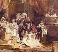 Samuel in the Temple, 1839, wilkie