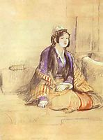 Seated Lady of Constantinople, 1840, wilkie