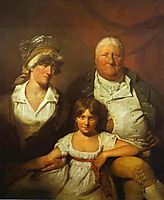William Chalmers Bethune, his wife Isabella Morison and their Daughter Isabella, 1804, wilkie