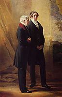 Arthur Wellesley, 1st Duke of Wellington with Sir Robert Peel, 1844, winterhalter