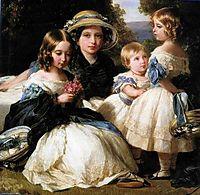 The daughters of Queen Victoria and Prince Albert, 1849, winterhalter