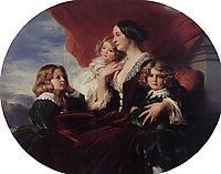 Elzbieta Branicka, Countess Krasinka and her Children, 1853, winterhalter