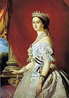 Empress Eugenie , 1853, winterhalter