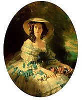 Eugénie de Montijo, Empress of France, 1857, winterhalter