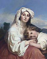 Italian woman with child, winterhalter