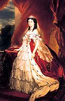 Portrait of Augusta of Saxe Weimar Eisenach, winterhalter