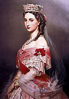 Portrait of Charlotte of Belgium, 1864, winterhalter