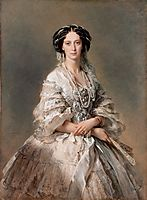 Portrait of Empress Maria Alexandrovna , 1857, winterhalter