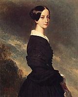 Portrait of Francisca Caroline de Braganca , 1844, winterhalter