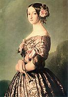 Portrait of Francisca Caroline Gonzaga de Bragança, princesse de Joinville, c.1850, winterhalter