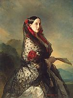 Portrait of Grand Duchess Maria Nikolayevna, 1857, winterhalter