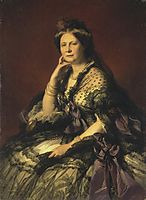 Portrait of Grand Princess Yelena Pavlovna, 1862, winterhalter