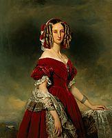 Portrait of Louises von Orléans, 1841, winterhalter