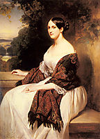 Portrait of Madame Ackerman, the wife of the Chief Finance Minister of King Louis Philippe, 1838, winterhalter