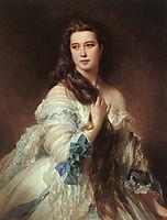 Portrait of Madame Rimsky-Korsakov, Varvara Dmitrievna Mergassov, 1864, winterhalter