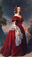 Portrait of Marie Louise, the first Queen of the Belgians, c.1841, winterhalter
