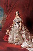 Portrait of Queen Isabella II of Spain and her daughter Isabella, 1852, winterhalter