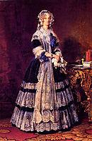 Portrait of the Queen Marie Amelie of France, 1842, winterhalter