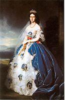 Portrait of the Queen Olga of Württemberg, 1865, winterhalter