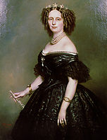 Portrait of Queen Sophie of Netherlands, born Sophie of Württemberg, 1863, winterhalter