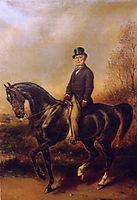 Portrait équestre de François Adolphe Akermann, 1870, winterhalter