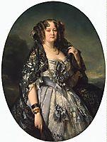 Portrait of Sophia Alexandrovna Radziwiłł, 1864, winterhalter