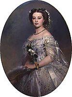 Portrait of Victoria, Princess Royal, 1857, winterhalter