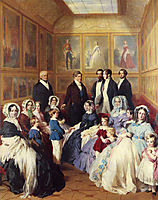 Queen Victoria and Prince Albert with the Family of King Louis Philippe at the Chateau, 1845, winterhalter
