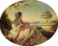 Queen Victoria with Prince Arthur, 1850, winterhalter
