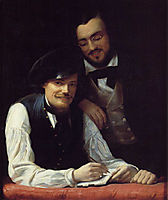 Self-Portrait of the Artist with his Brother, Hermann, 1840, winterhalter