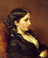 Study of a Girl in Profile, 1862, winterhalter