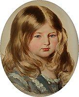 Study for a portrait of Princess Amalie of Saxe-Coburg-Gotha , winterhalter