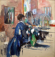 Lady in Blue in front of a Mirror, 1914, wouters