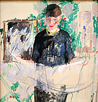 Woman in Black Reading a Newspaper, 1912, wouters