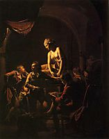 An Academy by Lamplight, 1769, wright