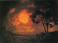 An Eruption of Mount Vesuvius, with the Procession of St. Januariu--s Head, 1778, wright
