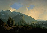 An Italian Landscape with Mountains and a River, 1790, wright