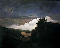 Arkwright-s Cotton Mills by Night, c.1782, wright