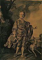 Boy with Plumed Hat and Greyhound, 1750, wright