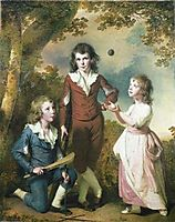 The Children of Hugh and Sarah Wood of Swanwick, Derbyshire, 1789, wright