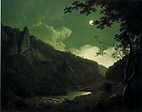 Dovedale by Moonlight, 1785, wright